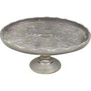 Jeannette Harp Cake Stand Gold Trim