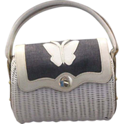 Wicker Denim Leather Butterfly Summer Handbag