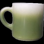 SOLD Hazel Atlas Dark Green Fade Milk Glass Mug