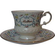 Mother Elizabethan Fine Bone China Cup Saucer Made in England