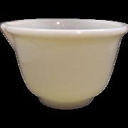 Hamilton Beach Yellow Custard Glass Mixing Bowl Spout 1 Qt