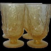Seneca Driftwood Yellow Buttercup Water Goblets Set of 4