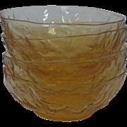 """Seneca Driftwood Yellow Buttercup Bowls 5 1/4"""""""