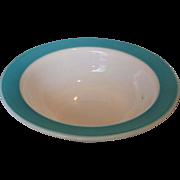 Pyrex Turquoise Rim Serving Salad Bowl
