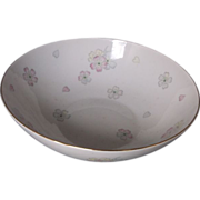 Johann Haviland Bavaria Pink Yellow Flowers Bowl
