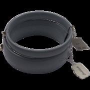 Lisner Goldblatt's Grey Enamel Clamper Bracelets Pair