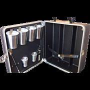 SOLD Trav-L-Bar Travel Bar Platt Black Case Triple Bottle