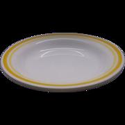 Corelle Citrus Rimmed Soup Bowls Pair Yellow Stripes