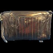 Navy Blue Eel Skin Purse Shoulder Bag