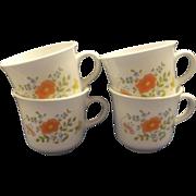 Corning Corelle Wildflower Pyroceram Cups Set of 4