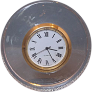 Japan Quartz Crystal Clear Glass Round Clock Tiny