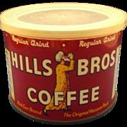 Hills Bros Coffee Half Pound Tin 1952 Regular Grind