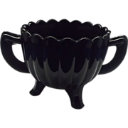 Pillar Optic Black Glass Sugar Imperial