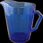 SOLD Hazel Atlas Aurora Cobalt Blue Creamer