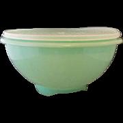 SOLD Tupperware Green Sheer Lid Colander Strainer