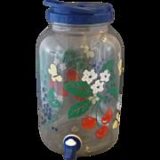 Fruit Floral Sun Tea Drink Beverage Glass Jar 1 Gallon