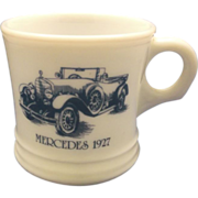 Surrey Mercedes 1927 Milk Glass Shaving Mug