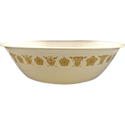 """Corelle Butterfly Gold Large Round Serving Bowl 10"""""""