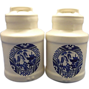 McCoy Blue Willow Salt Pepper Shakers
