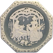 Incolay Stone Marriage of Figaro Plate Love Themes Grand Opera