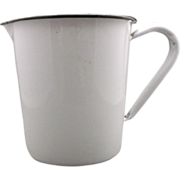 White Porcelain Enamel Measuring Pitcher 32 Oz 1000 CC