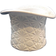 Milk Glass Daisy Button Hat Vase