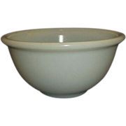 "Small Milk Glass Mixing Bowl 6"" Beaded Edge"