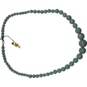 Mint Green Moonglow Lucite Graduated Necklace New Old Stock NOS