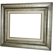 Large 19 x 22 Wooden Frame Antiqued Gold Wash