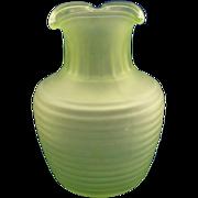 Frigidaire Green Vaseline Depression Iced Tea Carafe