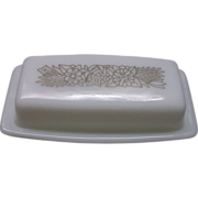 Pyrex Woodland Brown Butter Dish With Lid 1/4 Lb One Stick
