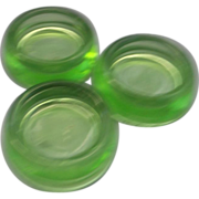 Hazel Atlas Green Furniture Coaster Depression Glass