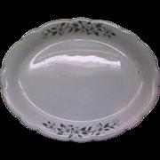 "Dogwood Buffalo China Restaurant Ware Oval Platter 12"""