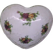 SALE Royal Albert Old Country Roses Heart Shaped Trinket Box