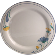 SOLD Lenox Chinastone Buttercups on Blue Dinner Plate