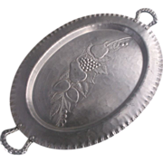SOLD Everlast Hand Forged Aluminum Oval Fruit Pattern Tray - Red Tag Sale Item