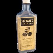 Sloan's Liniment Embossed Bottle 1930s Paper Label