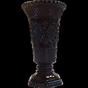 "Avon Cape Cod Ruby Red Flower Vase 8"" MIB"