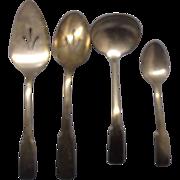 International Silver Patriot Serving Pieces Ladle Pie Server Pierced Spoon