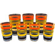 SOLD Fiesta Go Alongs Stripes Rings Tumblers Anchor Hocking