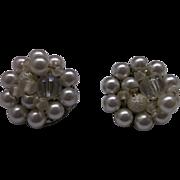 Japan Faux Pearl Clip Earrings