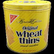 Wheat Thins 1987 Limited Edition Tin Still Full