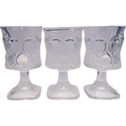 SOLD Noritake Spotlight Clear Frosted Wine Glasses Set of Three - Red Tag Sale Item