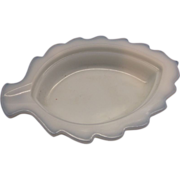 Milk Glass Leaf Ashtray Dish