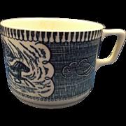 Royal China Currier & Ives Mug Fashionable Turn Out Scene Blue