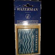 Waterman Ink Cartridge Box of 8 Blue/Black Ink