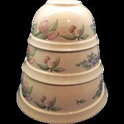 Pfaltzgraff Garden Party Garden Impressions Stoneware Mixing Bowl Set