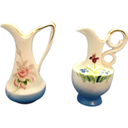 SOLD Miniature Pitcher Ewers Hand Painted Toothpick HOlders