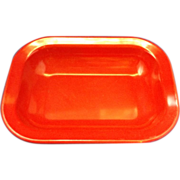 Red Texas Ware Rectangle Serving Bowl