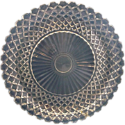 Anchor Hocking Waterford Waffle Depression Glass Sandwich Plate